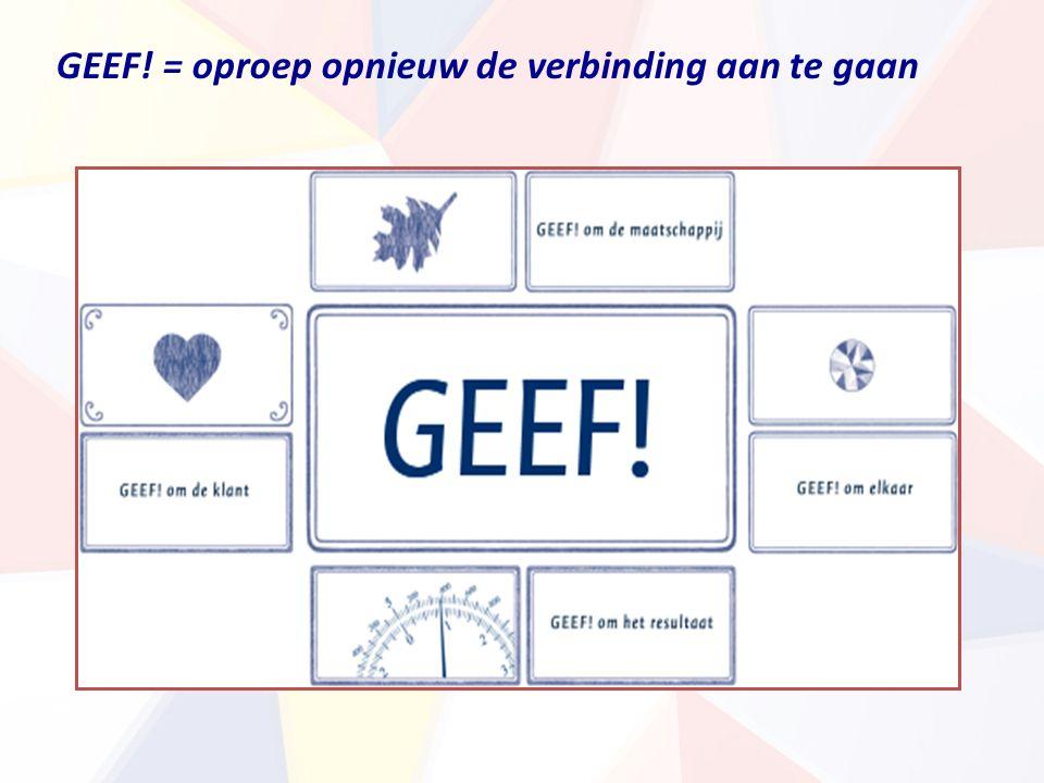 GEEF! = oproep opnieuw de verbinding aan te gaan