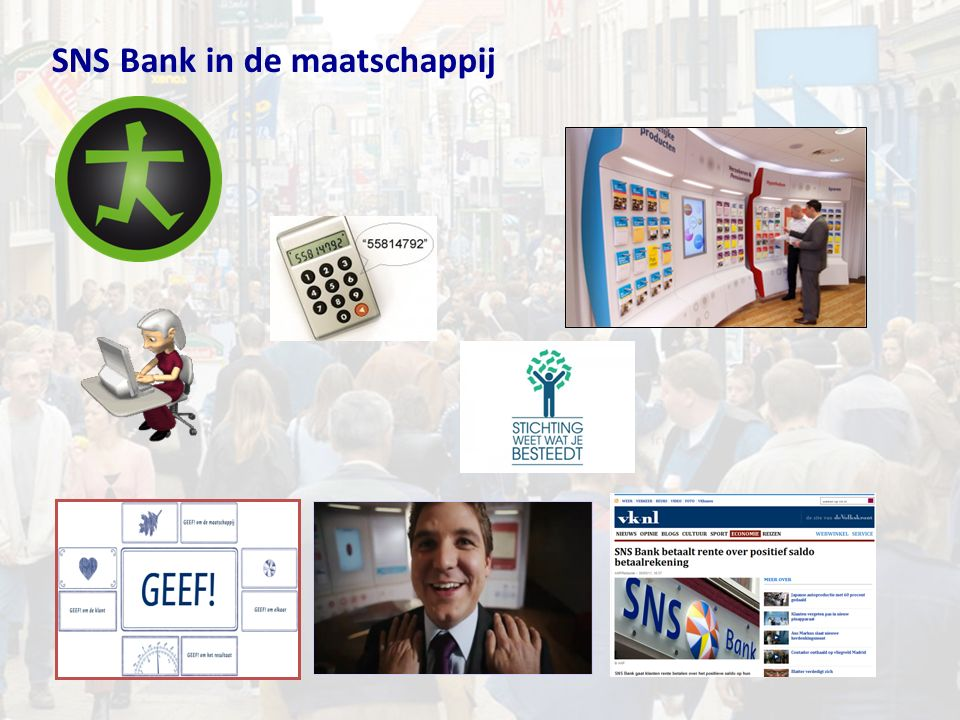SNS Bank in de maatschappij