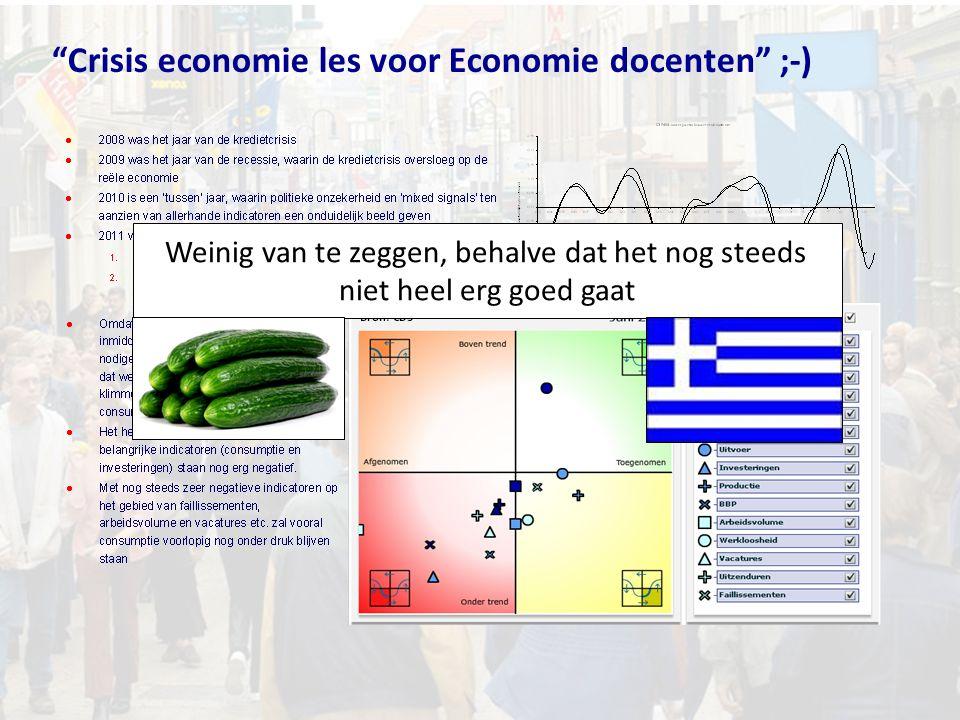 """""""Crisis economie les voor Economie docenten"""" ;-) Weinig van te zeggen, behalve dat het nog steeds niet heel erg goed gaat"""