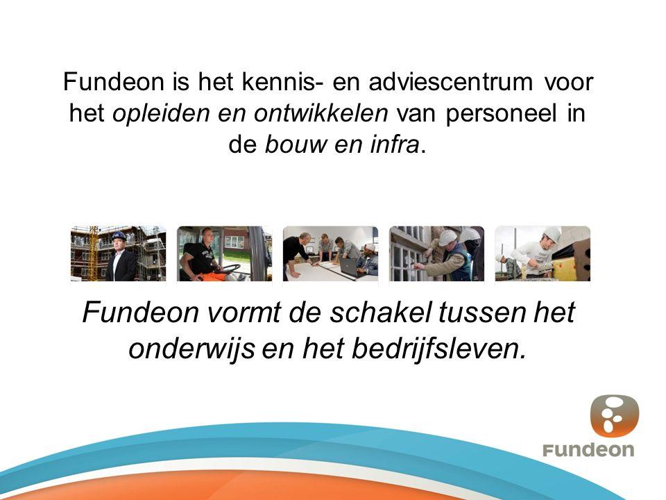 Fundeon is het kennis- en adviescentrum voor het opleiden en ontwikkelen van personeel in de bouw en infra.