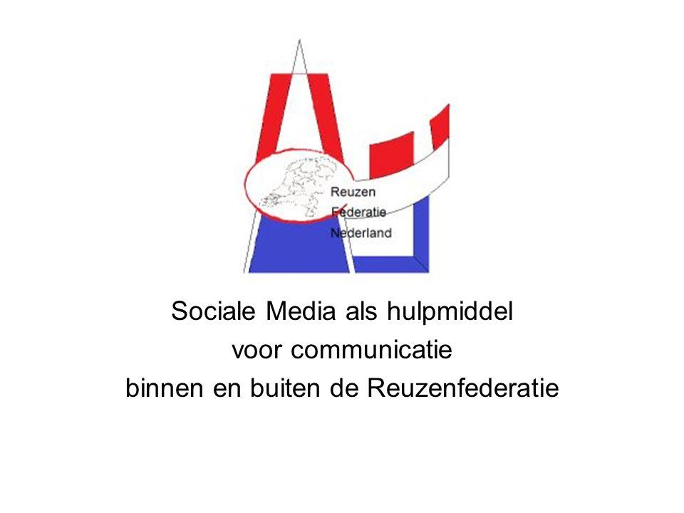 Sociale Media als hulpmiddel voor communicatie binnen en buiten de Reuzenfederatie