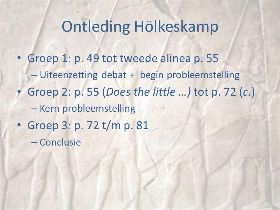Ontleding Hölkeskamp Groep 1: p. 49 tot tweede alinea p.