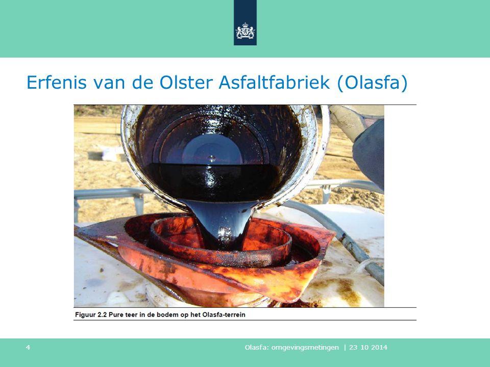 Erfenis van de Olster Asfaltfabriek (Olasfa) Olasfa: omgevingsmetingen | 23 10 2014 4