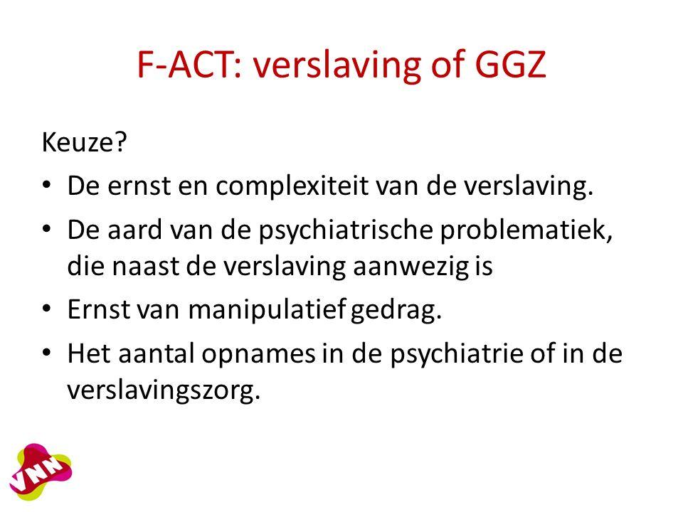 F-ACT: verslaving of GGZ Keuze. De ernst en complexiteit van de verslaving.