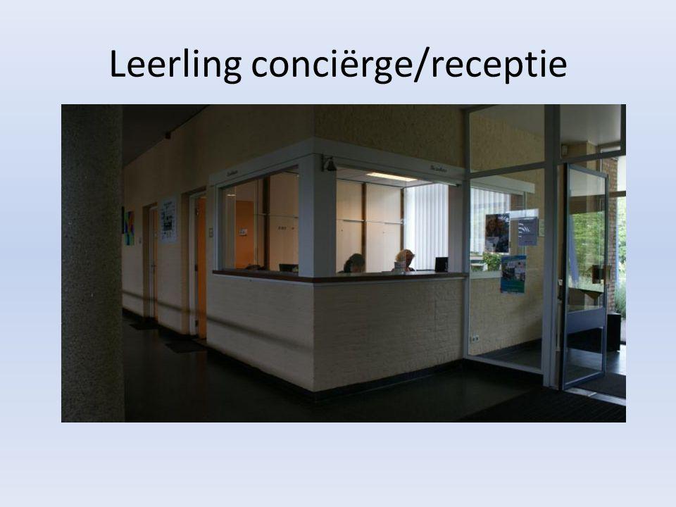 Leerling conciërge/receptie