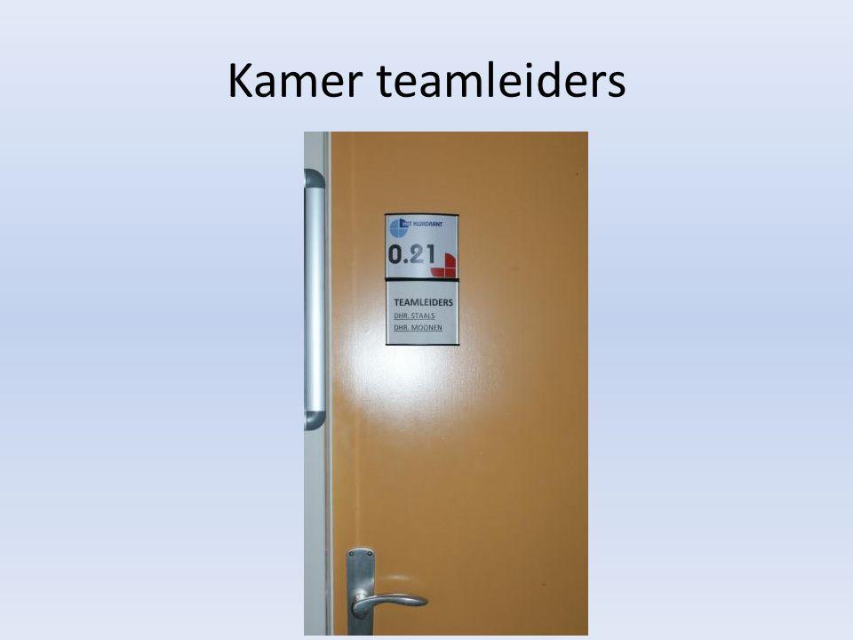 Kamer teamleiders