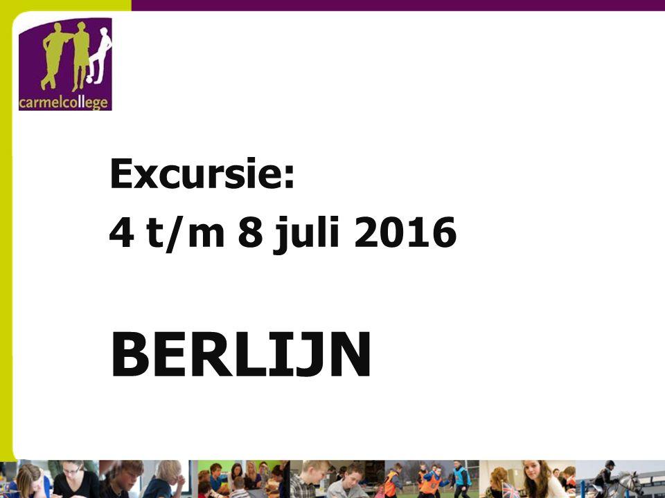 sn Excursie: 4 t/m 8 juli 2016 BERLIJN