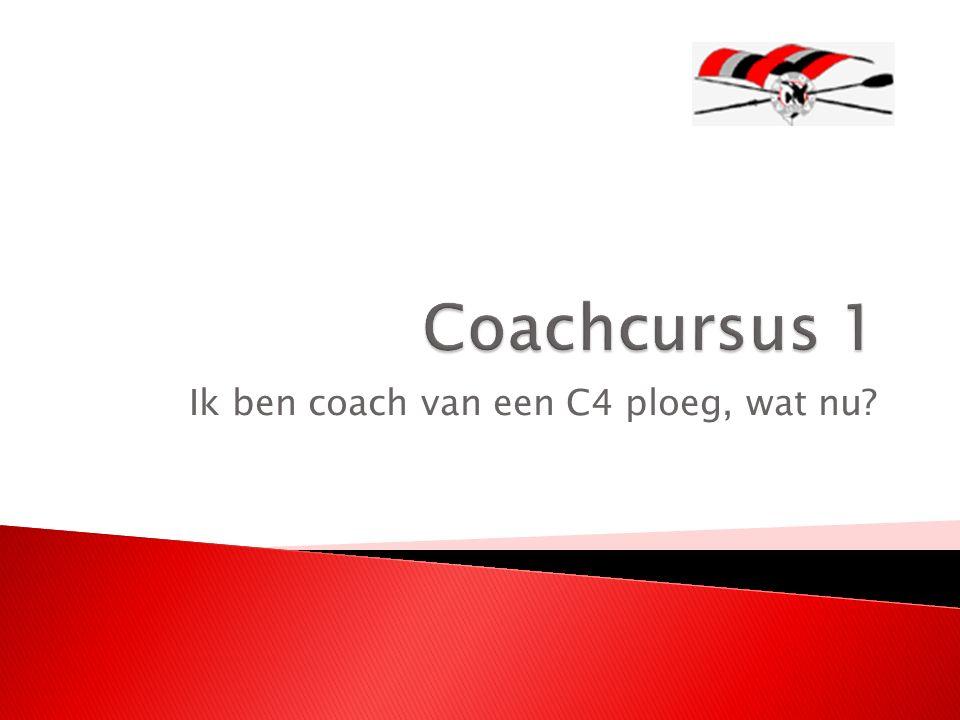 Ik ben coach van een C4 ploeg, wat nu?