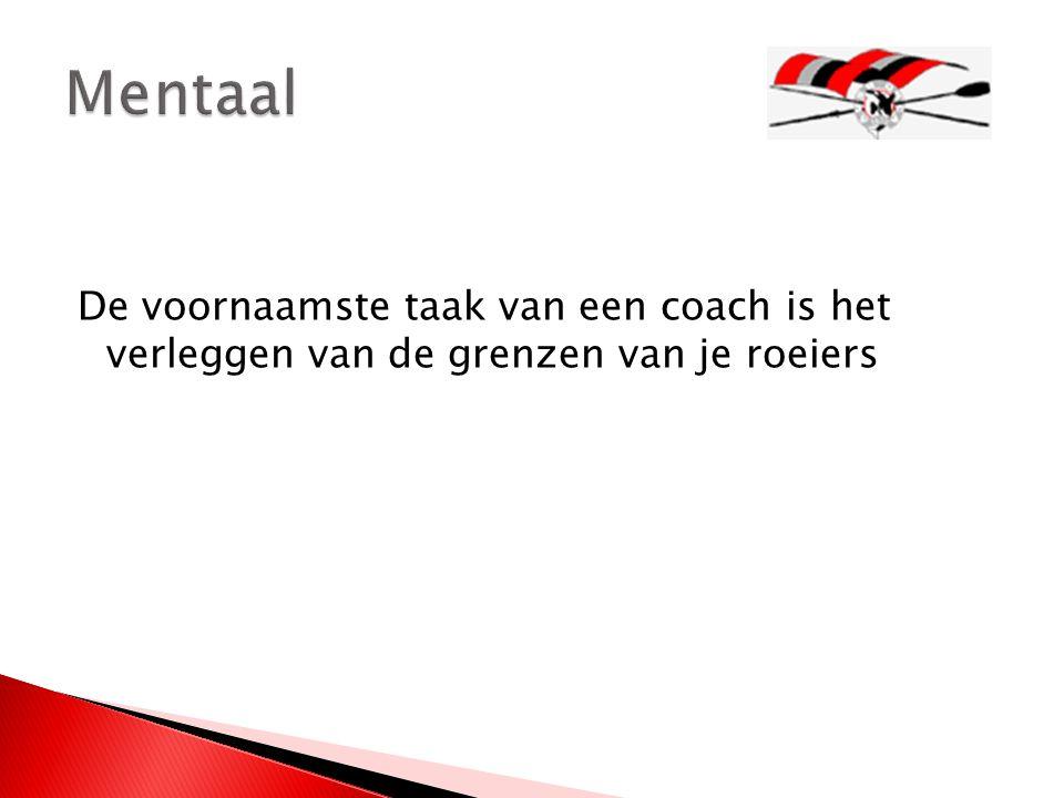 De voornaamste taak van een coach is het verleggen van de grenzen van je roeiers
