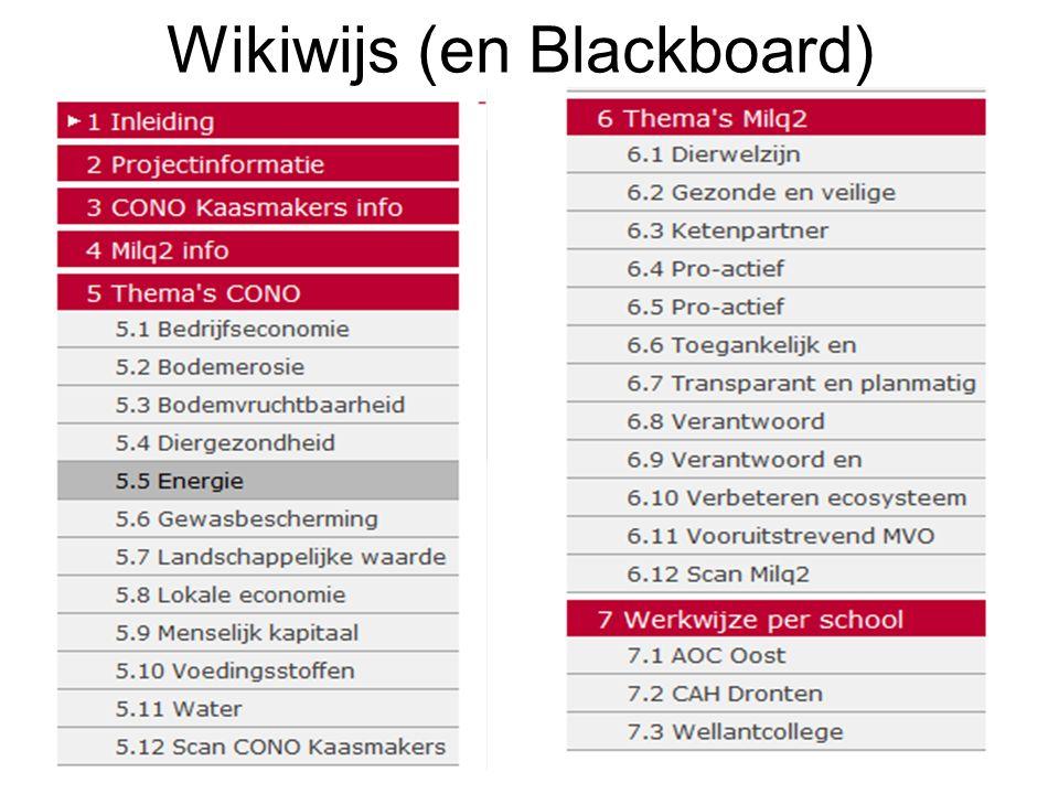 Wikiwijs (en Blackboard)