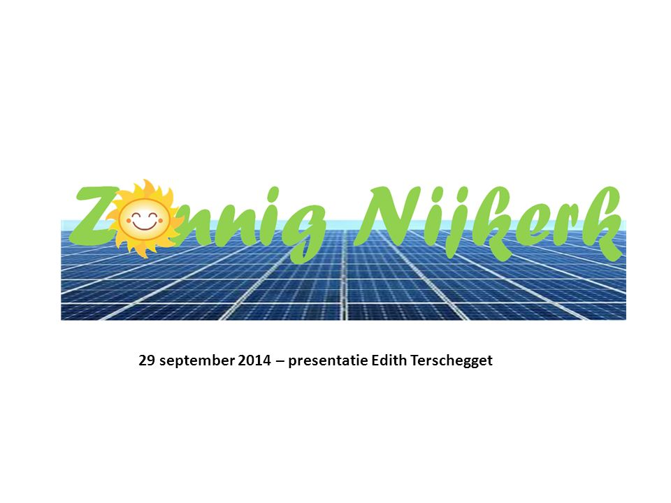 29 september 2014 – presentatie Edith Terschegget