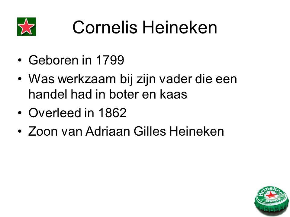 Geboren in 1799 Was werkzaam bij zijn vader die een handel had in boter en kaas Overleed in 1862 Zoon van Adriaan Gilles Heineken
