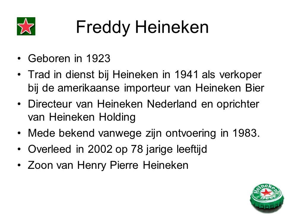 Geboren in 1923 Trad in dienst bij Heineken in 1941 als verkoper bij de amerikaanse importeur van Heineken Bier Directeur van Heineken Nederland en op