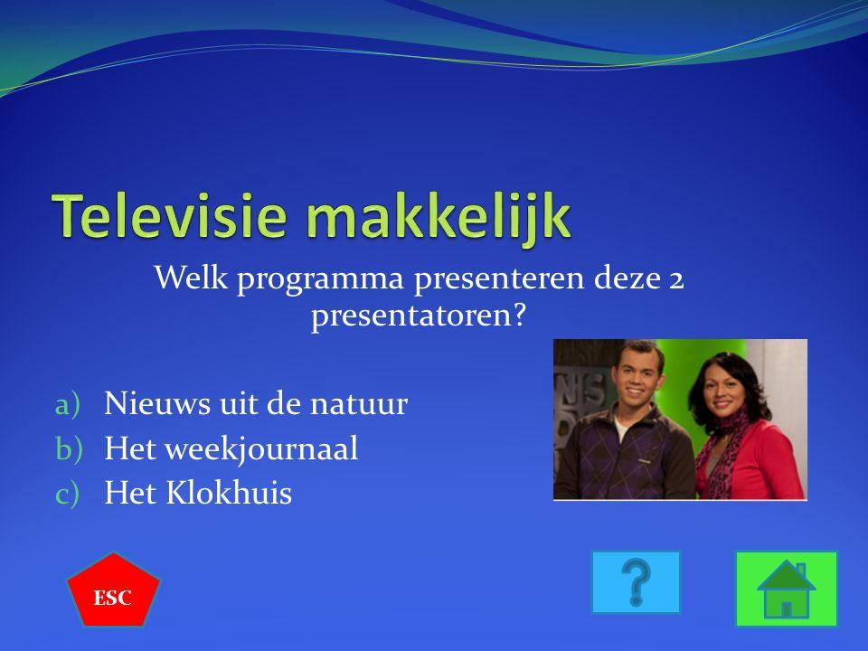 Welk programma presenteren deze 2 presentatoren.
