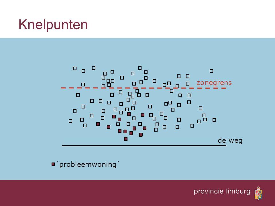 Hoe werkt de Regeling doelmatigheid  Bepaal de knelpunten, dus de woningen binnen de zone waarvan de geluidbelasting de streefwaarde overschrijdt.