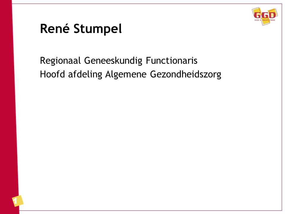 1 René Stumpel Regionaal Geneeskundig Functionaris Hoofd afdeling Algemene Gezondheidszorg