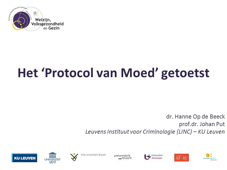 Het 'Protocol van Moed' getoetst dr. Hanne Op de Beeck prof.dr.