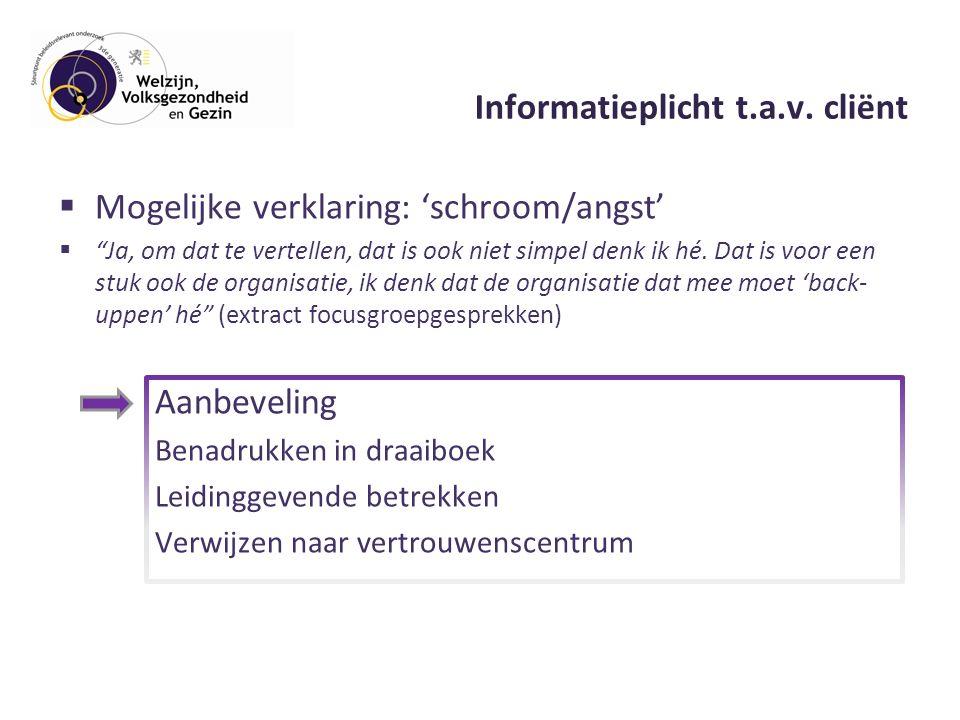 Informatieplicht t.a.v.