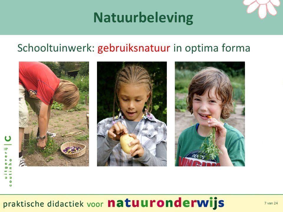 7 van 24 Natuurbeleving Schooltuinwerk: gebruiksnatuur in optima forma