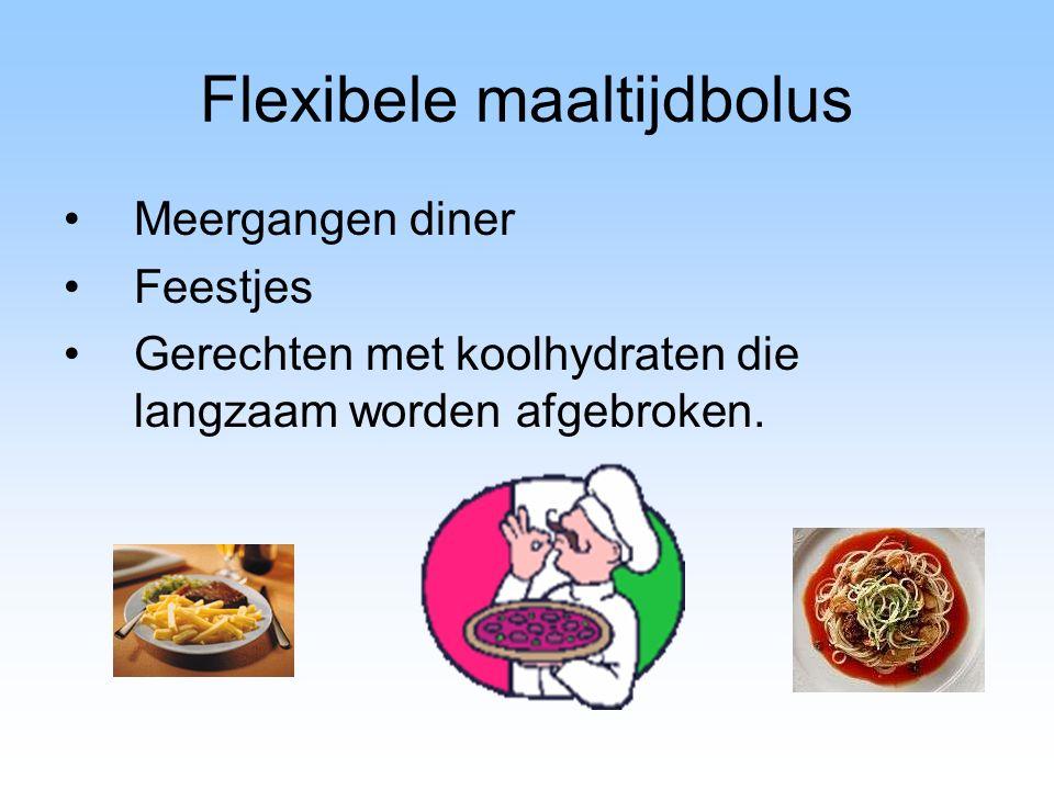 Flexibele maaltijdbolus Meergangen diner Feestjes Gerechten met koolhydraten die langzaam worden afgebroken.