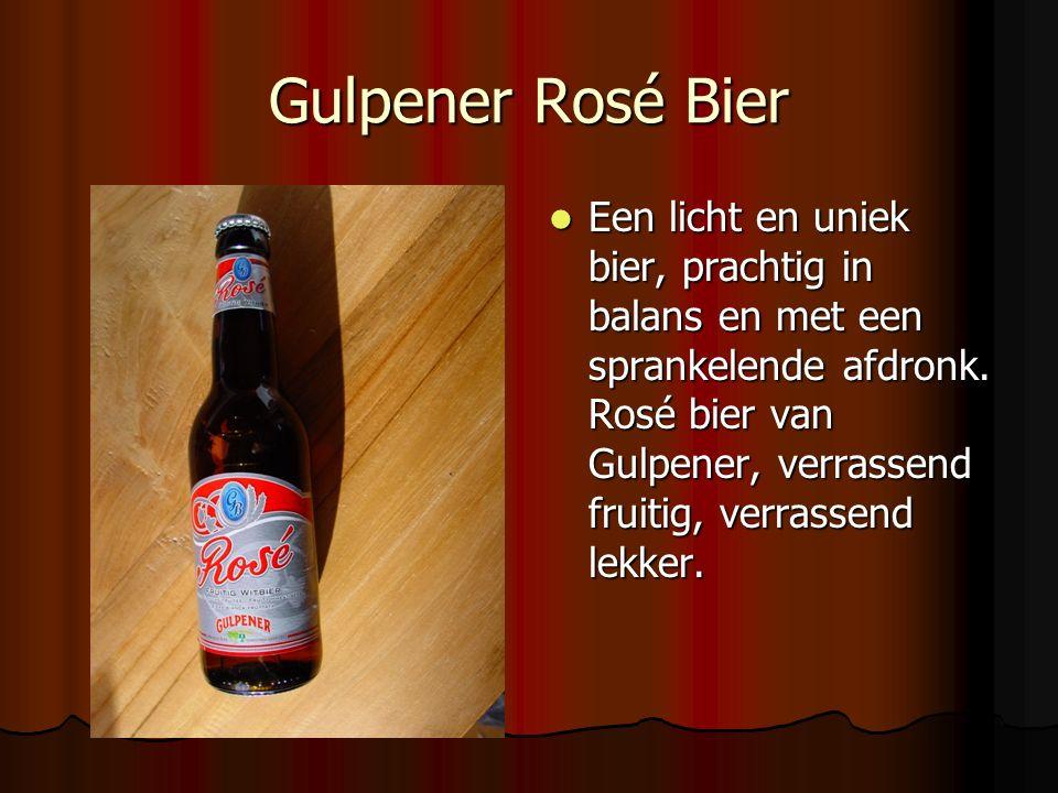 Gulpener Rosé Bier Een licht en uniek bier, prachtig in balans en met een sprankelende afdronk. Rosé bier van Gulpener, verrassend fruitig, verrassend