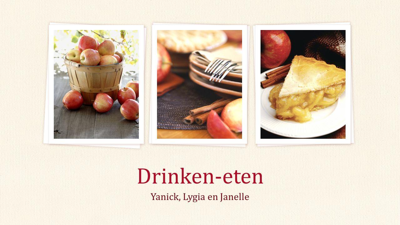Yanick, Lygia en Janelle Drinken-eten