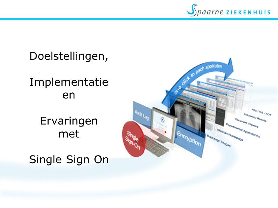 Effectiviteit Snelle en veilige manier ontsluiten van informatie Vermindering van calls: voordeel voor IT gebruiker & voor IT Toekomst: bij binnenkomst in gebouw/parkeerplaats automatisch inloggen