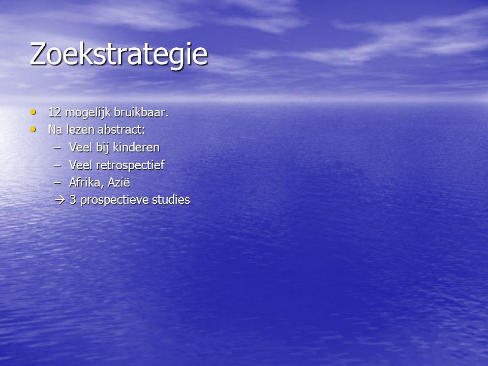 Zoekstrategie 12 mogelijk bruikbaar.12 mogelijk bruikbaar.