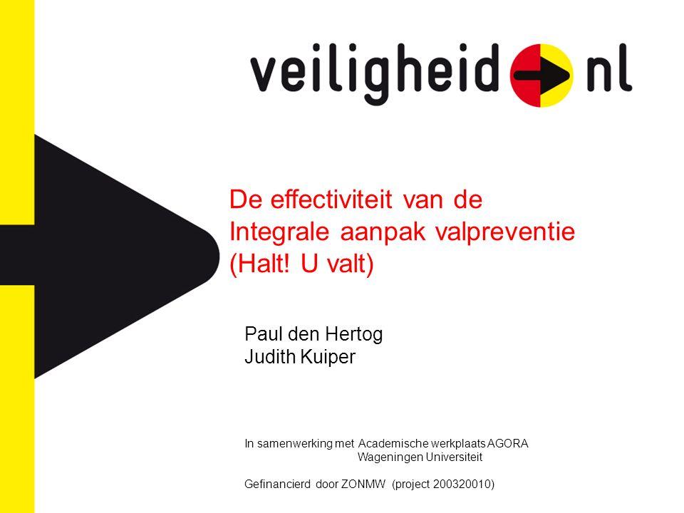 De effectiviteit van de Integrale aanpak valpreventie (Halt.