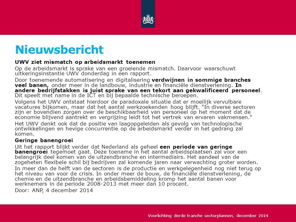 De aanvraag Geen subsidieplafond per aanvraag, wel redelijk in verhouding tot omvang sector / regio Drempelbedrag van ten minste 125.000 euro cofinanciering In 2015 is er 150 mln.