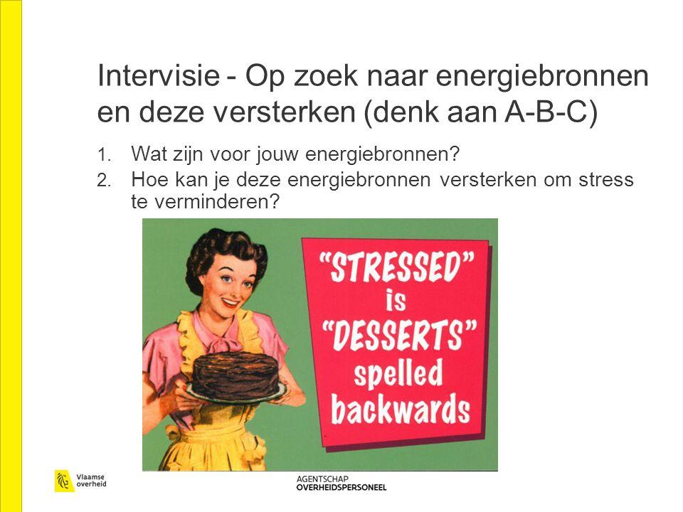 Intervisie - Op zoek naar energiebronnen en deze versterken (denk aan A-B-C) 1.