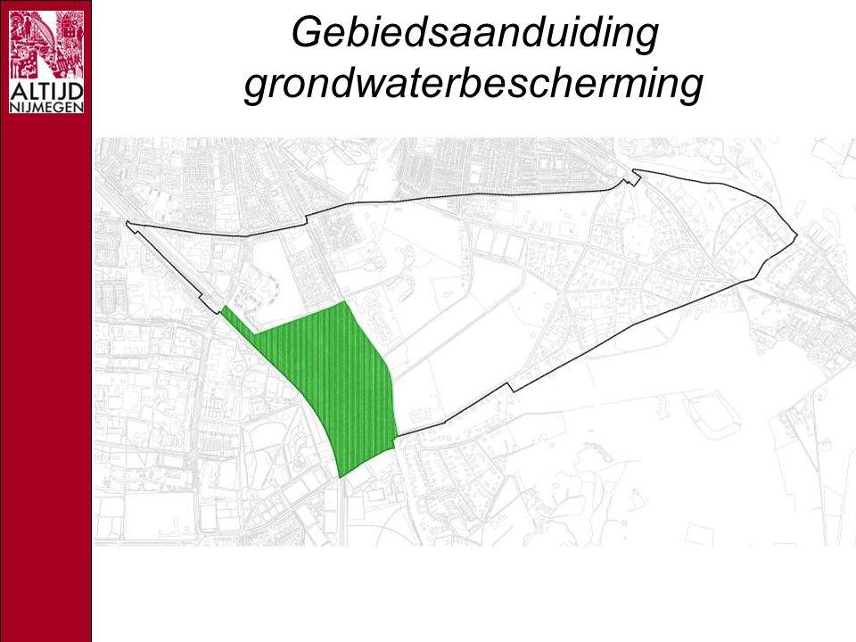 Gebiedsaanduiding grondwaterbescherming