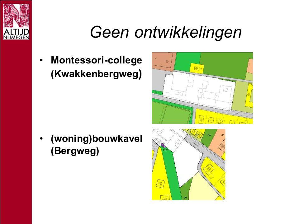Geen ontwikkelingen Montessori-college (Kwakkenbergweg ) (woning)bouwkavel (Bergweg)