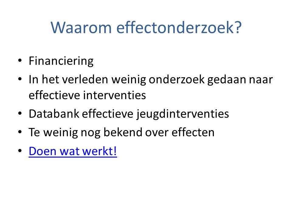 Waarom effectonderzoek.