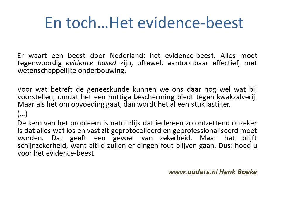 Er waart een beest door Nederland: het evidence-beest.