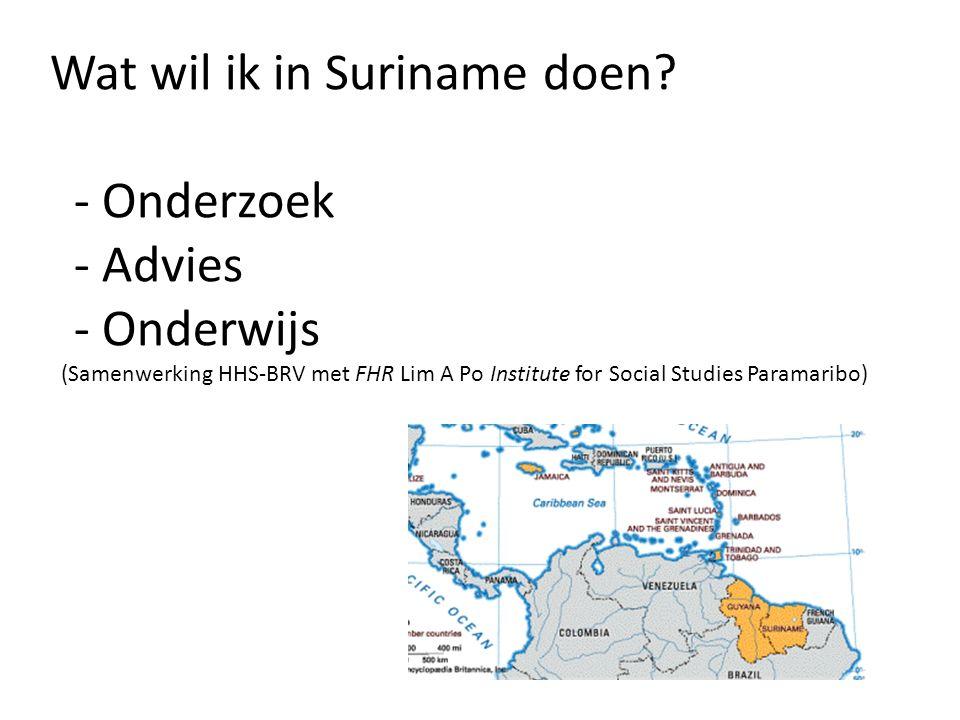 Wat wil ik in Suriname doen.