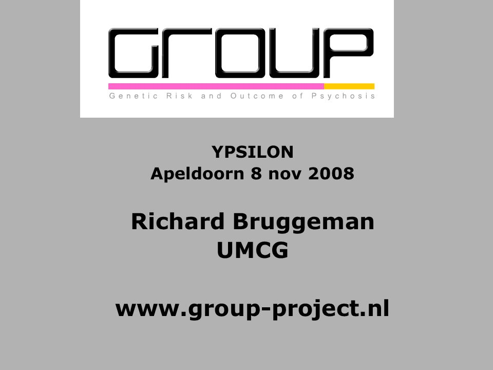 YPSILON Apeldoorn 8 nov 2008 Richard Bruggeman UMCG www.group-project.nl