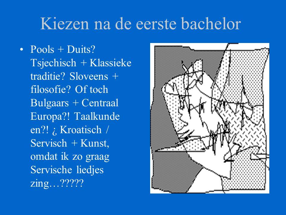 Kiezen na de eerste bachelor Pools + Duits. Tsjechisch + Klassieke traditie.