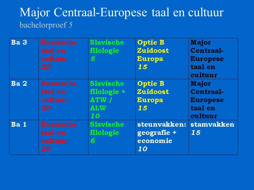 Major Centraal-Europese taal en cultuur bachelorproef 5