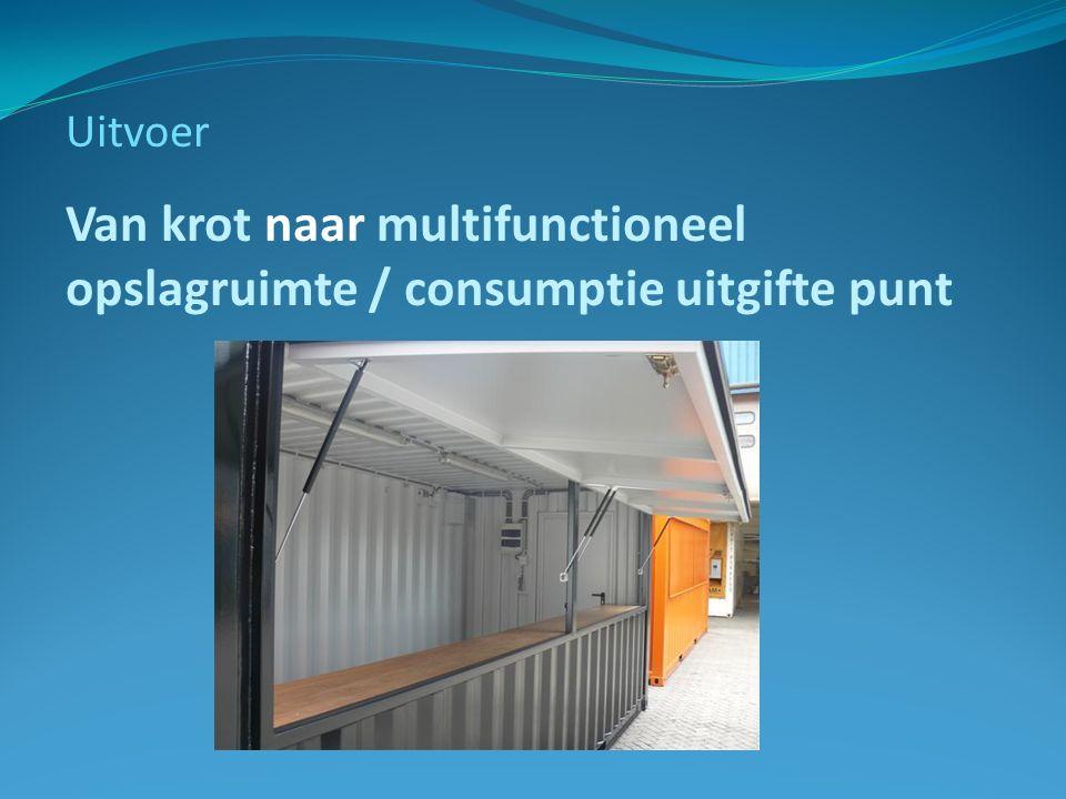 Uitvoer Van krot naar multifunctioneel opslagruimte / consumptie uitgifte punt