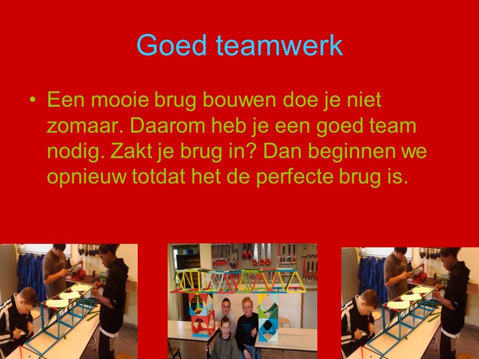 Goed teamwerk Een mooie brug bouwen doe je niet zomaar.