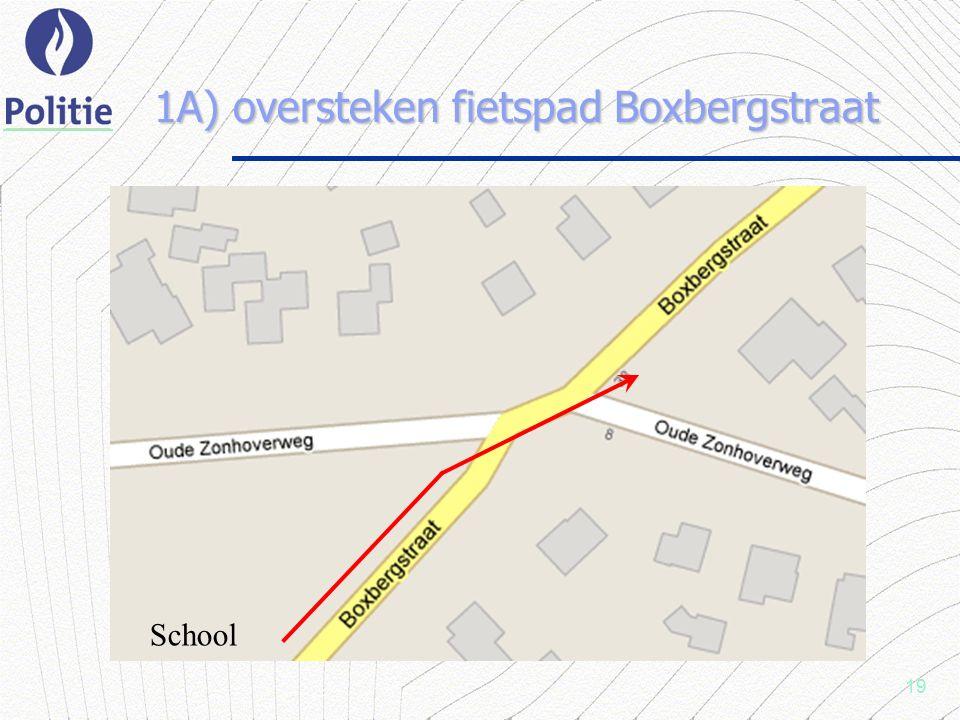 19 1A) oversteken fietspad Boxbergstraat School