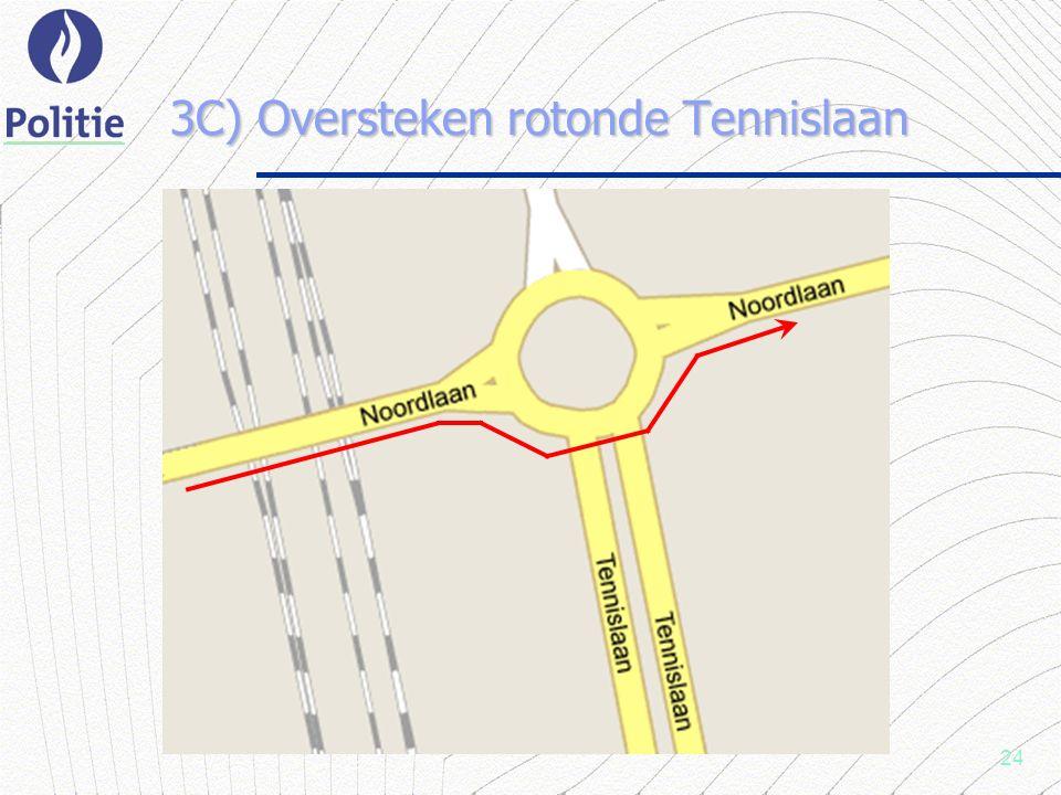 24 3C) Oversteken rotonde Tennislaan