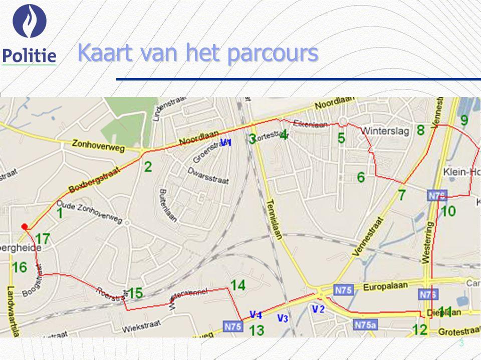 3 Kaart van het parcours