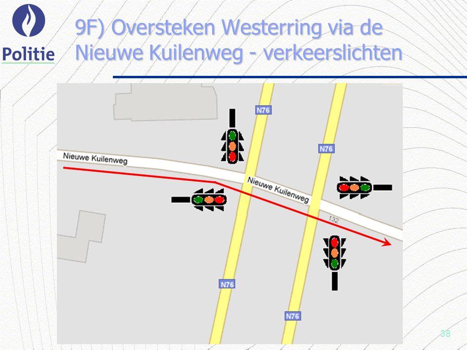 38 9F) Oversteken Westerring via de Nieuwe Kuilenweg - verkeerslichten