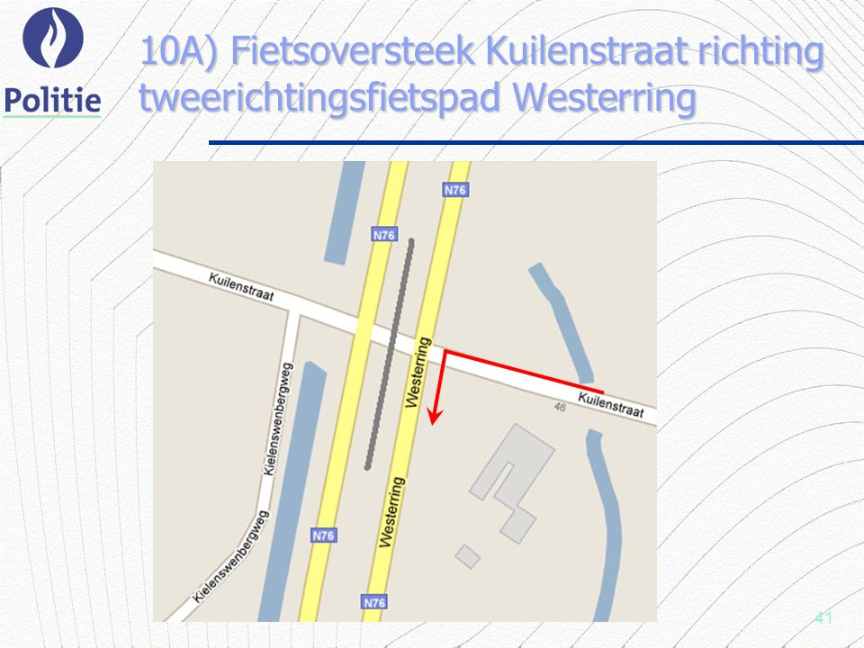 41 10A) Fietsoversteek Kuilenstraat richting tweerichtingsfietspad Westerring
