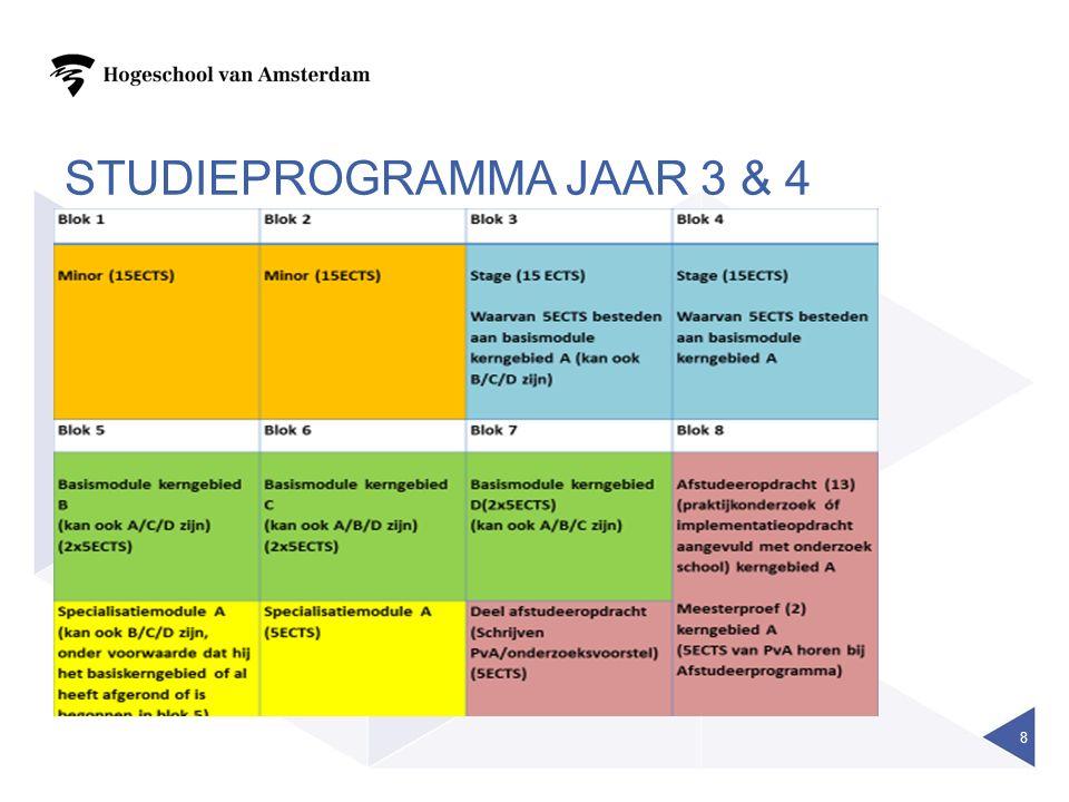STUDIEPROGRAMMA JAAR 3 & 4 8