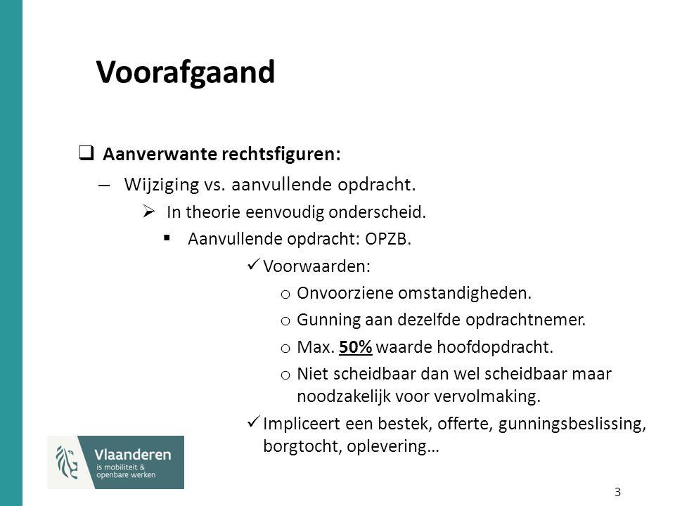4 Voorafgaand  Wijziging: art.37 KB Uitvoering. Voorwaarden: o Voorwerp blijft ongewijzigd.