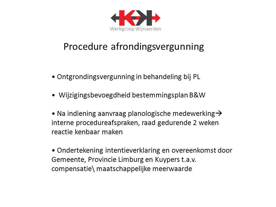 Werkgroep Wijnaerden Hoe verder met gebiedsontwikkeling Neer - Buggenum .