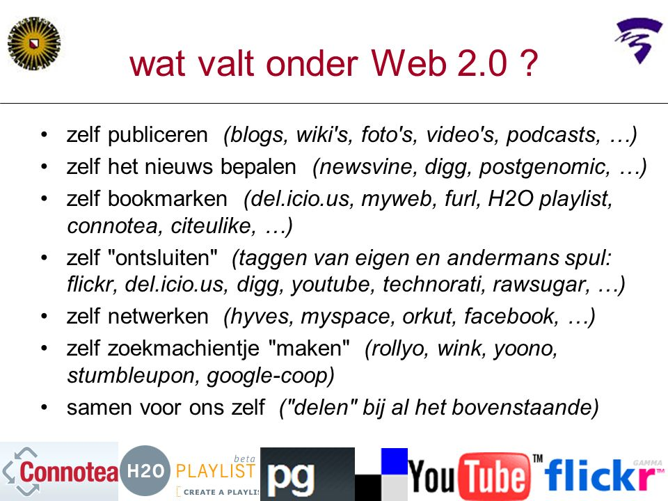 wat valt onder Web 2.0 .